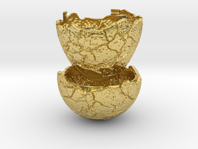 Dinosaur Egg Ring Box - Proposal Ring Box in Polished Brass