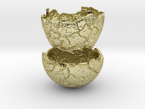 Dinosaur Egg Ring Box - Proposal Ring Box in 18k Gold Plated Brass