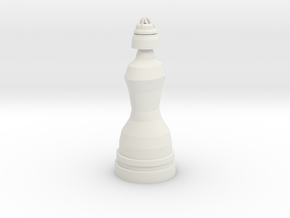 Queen White - Droid Series in White Natural Versatile Plastic