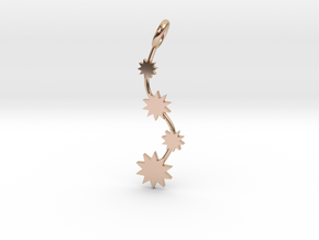 P O W E R Fall Pendant in 14k Rose Gold Plated Brass