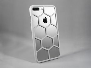 iPhone 7 Plus DIY Case - Hexelion in White Processed Versatile Plastic