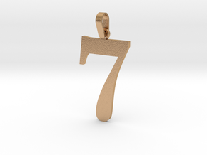 7 Number Pendant in Natural Bronze (Interlocking Parts)