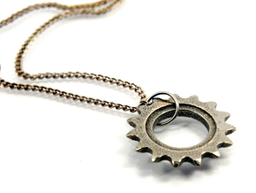 24mm Bicycle Track Sprocket Pendant 15t in Stainless Steel