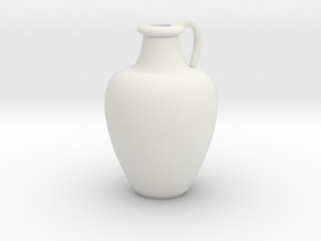 1/12 Scale Vase in White Natural Versatile Plastic