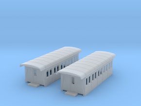 3rd Class Coach CT Type x2 - 1:160 - N in Smooth Fine Detail Plastic
