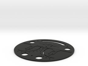 SM79 UC Gauge Face in Black Premium Versatile Plastic