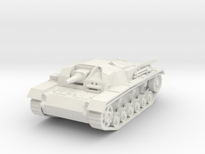 stug III b scale 1/56 in White Natural Versatile Plastic
