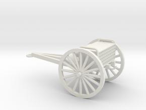 1/48 Scale 3 Inch Gun Caisson M1916 in White Natural Versatile Plastic
