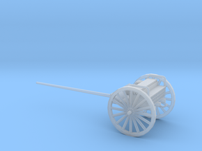1/100 Scale 3 Inch Gun Caisson Limber M1918 in Smooth Fine Detail Plastic