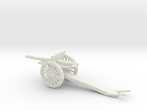 1/87 Scale 4.7 Inch Gun Carriage M1906 in White Natural Versatile Plastic