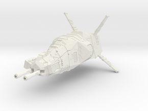 "Taiidan ""Raachok"" Light Corvette in White Natural Versatile Plastic"