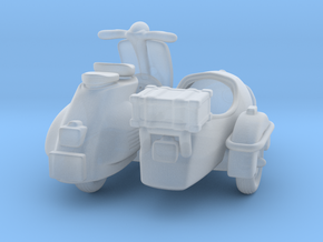 Vespa Sidecar   1:120 TT in Smooth Fine Detail Plastic