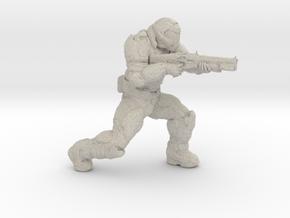 doomguy doom slayer 28mm heroic scale with shotgun in Natural Sandstone