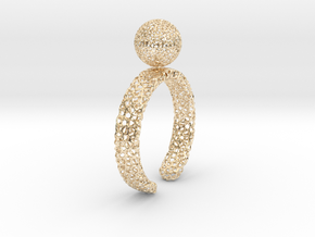 voronoi spinning ball ring in 14k Gold Plated Brass