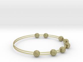 voronoi bracelet (1) in 18k Gold Plated Brass