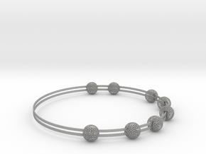 voronoi bracelet (1) in Aluminum