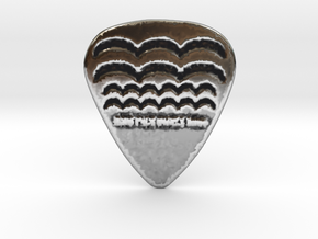 Raw Pick Waves Guitar Pick 1mm in Antique Silver