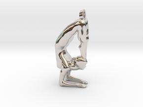 yoga jewelry - Vrischikasana in Rhodium Plated Brass