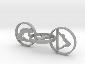 3 hoop yoga earring in Aluminum