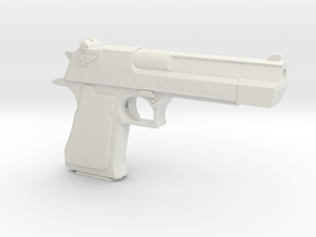 1:6 Miniature Desert Eagle Gun in White Natural Versatile Plastic