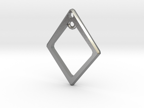 Diamond Charm Frame in Natural Silver