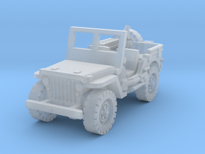 Jeep with Mortar scale 1/100 in Smooth Fine Detail Plastic