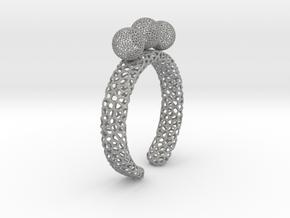 voronoi fidget ring. Size 10. Balls spin. in Aluminum