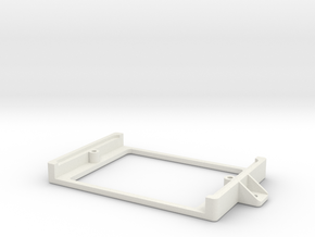 Half Sized Proto PCB Board Holder in White Natural Versatile Plastic
