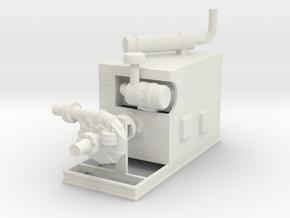 1/64th JD Power unit w irrigation manure pump in White Natural Versatile Plastic