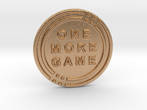 One More Game Decision Coin in Natural Bronze