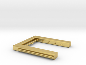Berieselungsanlage Zugwaschanlage Spur N 1:160 in Polished Brass