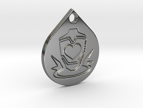 Apex Legends Lifeline Pendant in Fine Detail Polished Silver