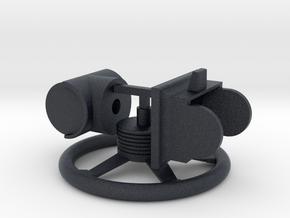 Steering wheel 1:10 in Black Professional Plastic