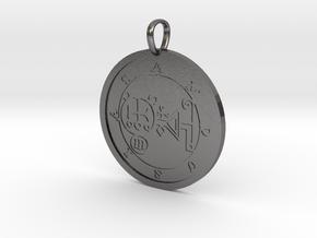 Amdusias Medallion in Polished Nickel Steel