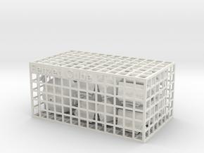 Fenzed Cube in White Natural Versatile Plastic