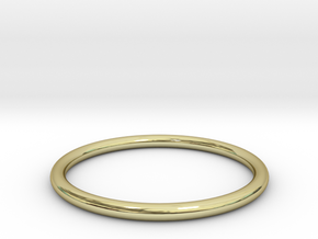 wire ring size 5.5 in 18k Gold Plated Brass