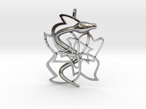 Rose sham in Fine Detail Polished Silver