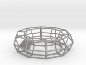 cage ring frame with voronoi ball size 10 in Aluminum