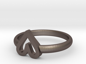 ring hearth size 7 in Polished Bronzed-Silver Steel