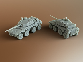 Rooikat 76 South African armoured Scale: 1:100 in Smooth Fine Detail Plastic