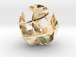 Sculpture IV in 14k Gold Plated Brass