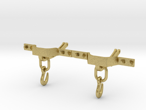 CPL01 - FR Couplings for Iron Slate Wagons (SM32) in Natural Brass