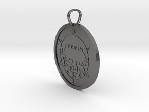 Belial Medallion in Polished Nickel Steel