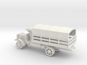 1/72 Scale Liberty Truck Cargo with Cover in White Natural Versatile Plastic