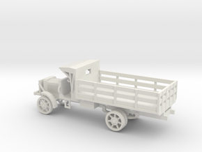 1/48 Scale Liberty Truck Cargo with Cab Cover in White Natural Versatile Plastic