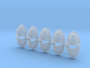 Moon Wolves Mk2 shoulder pads #1 in Smooth Fine Detail Plastic