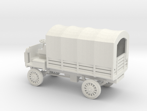 1/48 Scale FWD B 3-Ton 1917 US Army Truck with Cov in White Natural Versatile Plastic