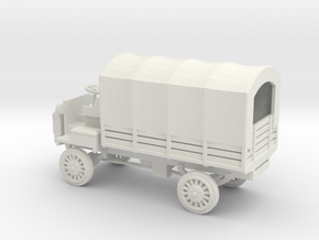 1/100 Scale FWD B 3-Ton 1917 US Army Truck with Co in White Natural Versatile Plastic