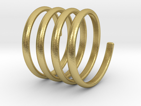 spring coil ring size 5 in Natural Brass