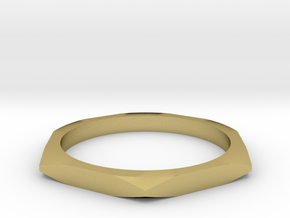 nut ring size 7.5 in Natural Brass